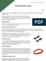 Sparkfun.com-SparkFun Ethernet Shield Quickstart Guide