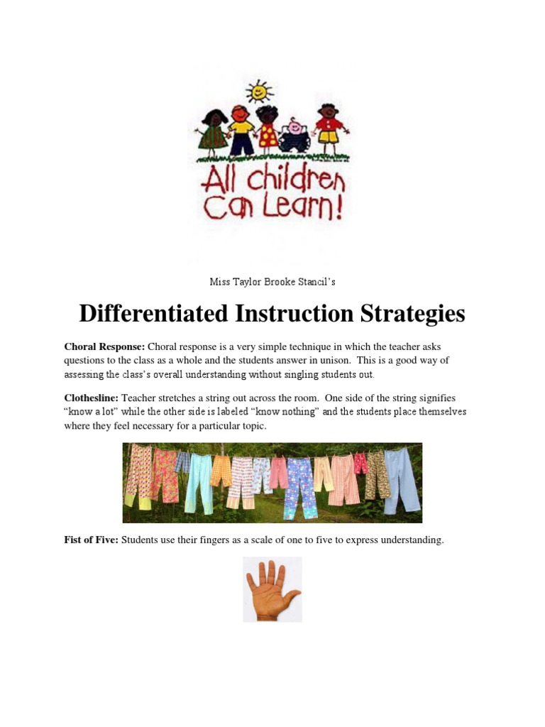Differentiated Instruction Strategies Kit Differentiated