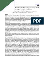 Pragmatic Approaches to Sustainable Development Through Rural Women Empowerment in Bangladesh