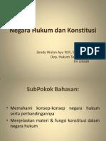 Negara Hukum & Konstitusi_Zendy