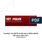 70-457 Transition Your MCTS on SQL Server 2008 to MCSA