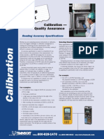 Calibration Quality Assurance