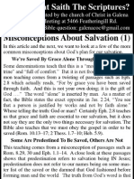 2010.06.02 - Misconceptions About Salvation - Part 1