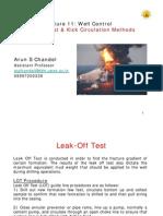 L11-Leak Off Test, Kick Tolerance & Kick Circulation Methods