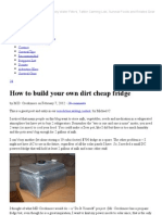 how to build your own dirt cheap fridge