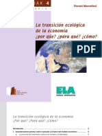 La Transición Ecológica de la Economía (Florent Marcellesi)