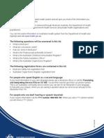 Medicare Australia Information Kit