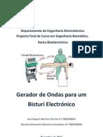 Relatório de Projecto Final de Curso - Bisturi Electronico