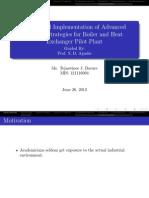 Masters Presentation -Process Control- Boiler and Heat Exchanger Pilot Plant