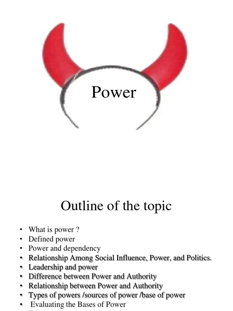 whats the difference between power and authority