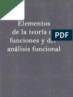 Elementos de La Teoria de Funciones y Analisis Funcional