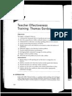 CH 7 Teacher Effectiveness Training