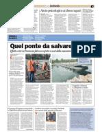 A Bereguardo (Pavia) un ponte di barche condannato a rompersi di continuo.