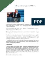 Obama Ianaugural Speech 2