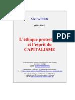 108049328 Weber Max L Ethique Protestante Et l Esprit Du Capitalisme