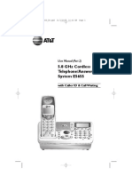 AT&T 5.8 GHz Cordless Telephone Manual