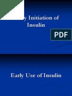 Early use of Insulin in Type 2 Diabetes