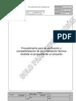 Proced. Compatibilización de documentación técnicos