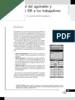 Cálculo fiscal del aguinaldo y retención de ISR a los trabajadores