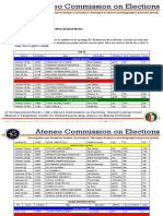 Memo 201312 | Official Candidates List for 2013 Freshmen and Special Elections