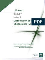 Lectura 7 - Clasificación de las Obligaciones. De medios y de resultados. Indivisibilidad y divisibilidad