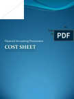 Cost Sheet Ppt