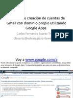 Creacion de Cuentas Google Apps