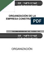 ORGANIZACIÓN DE LA EMPRESA CONSTRUCTORA