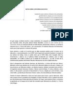 Notas Sobre La Reforma Educativa