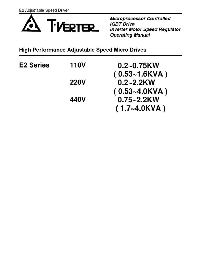 E2 Manualenv10 Power Inverter Electrical Wiring Powerhorse Engine Diagram