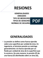Exposicion de Presiones Info II