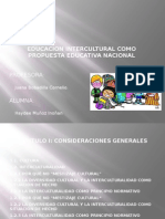 Educacion Intercultural Como Propuesta Educativa Nacional