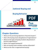 Organizational Buying and Buying Behavior