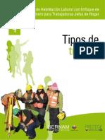 Taller de Habilitación Laboral con Enfoque de Género para Trabajadoras Jefas de Hogar- 04Tipos de trabajo