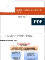 Análisis de la legislación sobre planificación territorial en