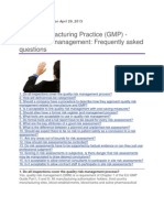 MHRA FAQ on Quality Risk Management-GMPs