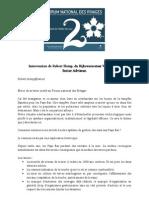 Intervention de Robert Slomp Forum Des Rivages