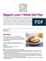 Biggest Loser 1 Week Diet Plan