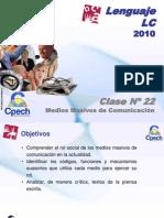 Clase 22 Lenguaje LC Cpech - M.M.C (OliverClases)