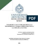 ANÁLISIS DE LA LEY N°19.983