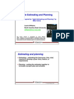 Estimating Planning