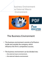 Global Business Environment – The External Macro Environment