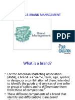 BRANDS & BRAND MANAGEMENT
