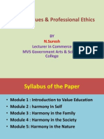 human values and professional ethics