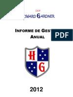 INFORME DE GESTIÓN PEDAGOGICA 2012
