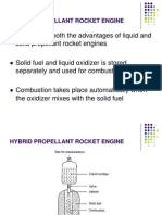 Hybrid Propellant Rocket Engine