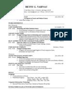 Resume - May 2009