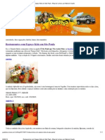 Restaurantes com Espaço Kids em São Paulo