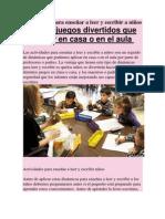 Actividades para enseñar a leer y escribir a niños