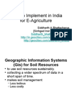 Implementing E Agriculture in India